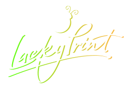 Lucky print neon background