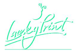 Lucky Print Logo Neon