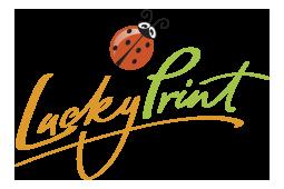 Lucky print logo