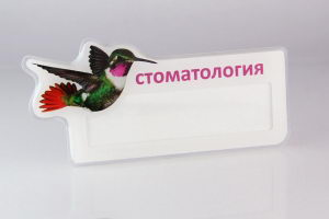 Бейджики для медика с окошком на магните