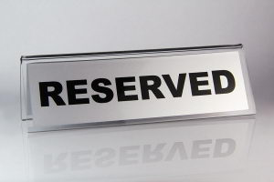 табличка Резерв