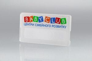 Бейдж из пластика